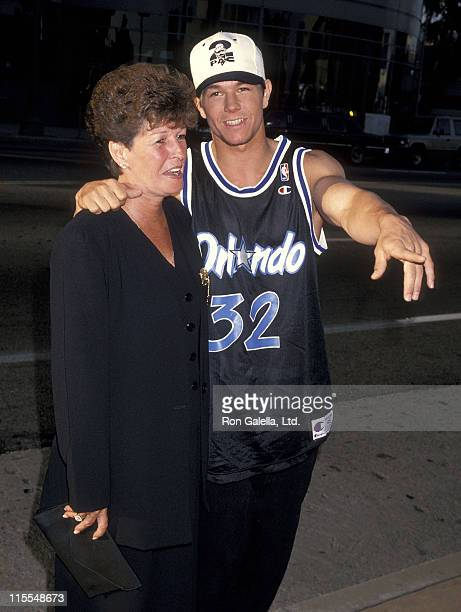 Actor Mark Wahlberg and mother Alma Wahlberg attend the 'Renaissance Man' Hollywood Premiere on May 31 1994 at Pacific's Cinerama Dome in Hollywood...