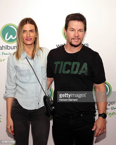 Actor Mark Wahlberg and Rhea Durham attend the Wahlburgers Coney Island Preview Party on June 23 2015 in the Brooklyn Borough of New York City