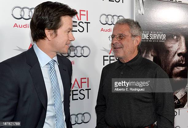Actor Mark Wahlberg and Ron Meyer ViceChairman NBCUniversal attend the premiere for 'Lone Survivor' during AFI FEST 2013 presented by Audi at TCL...