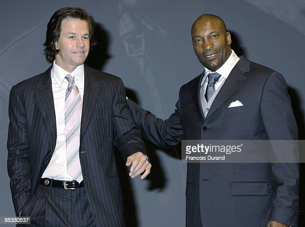 US actor Mark Wahlberg and US director John Singleton arrive at the premiere for Four Brothers at the 31st Deauville Festival Of American Film on...