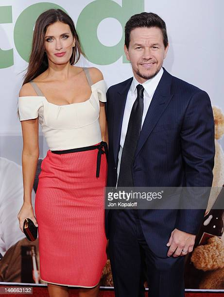 Actor Mark Wahlberg and wife Rhea Durham arrive at the Los Angeles Premiere 'Ted' at Grauman's Chinese Theatre on June 21 2012 in Hollywood California