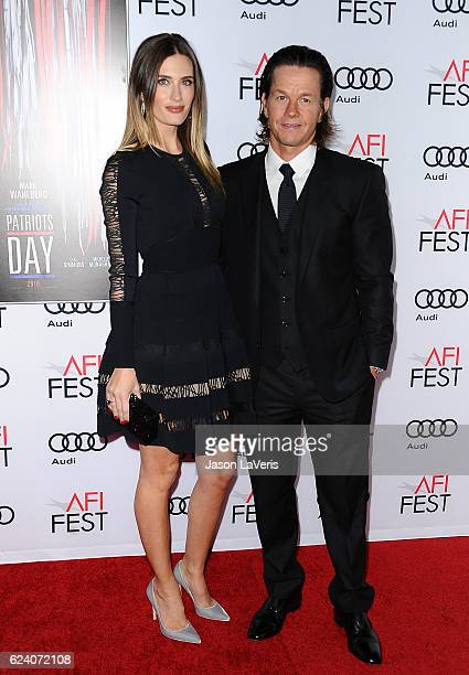 Actor Mark Wahlberg and wife Rhea Durham attend the closing night gala screening of Patriots Day at the 2016 AFI Fest at TCL Chinese Theatre on...