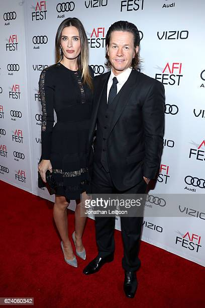 Actor Mark Wahlberg and wife Rhea Durham attend the premiere of Patriots Day at AFI Fest 2016 presented by Audi at The Chinese Theatre on November 17...