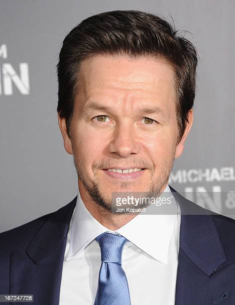 Actor Mark Wahlberg arrives at the Los Angeles Premiere 'Pain Gain' at TCL Chinese Theatre on April 22 2013 in Hollywood California