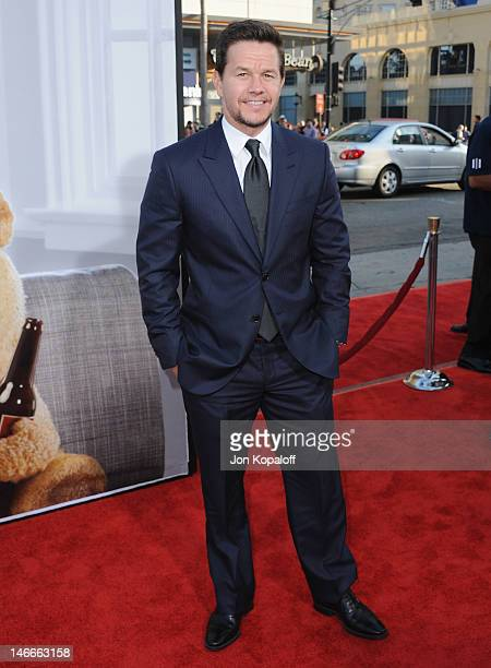 Actor Mark Wahlberg arrives at the Los Angeles Premiere 'Ted' at Grauman's Chinese Theatre on June 21 2012 in Hollywood California