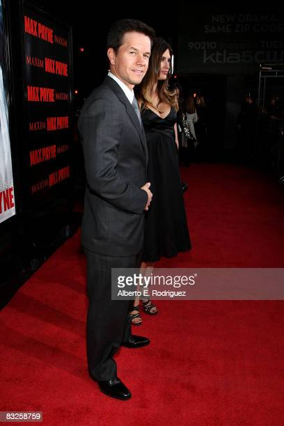 Actor Mark Wahlberg arrives at the premiere of 20th Century Fox's 'Max Payne' held at Mann's Chinese Theater on October 13th 2008 in Los Angeles...