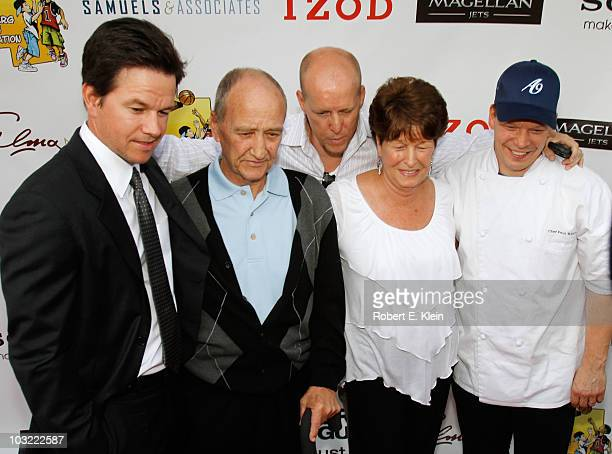 Actor Mark Wahlberg Arthur Donnolly Jim Wahlberg Alma Wahlberg and Paul Wahlberg attend a screening of 'The Other Guys' at Alma Nove on August 3 2010...