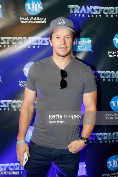 Actor Mark Wahlberg attends a special screening of 'Transformers The Last Knight' hosted by actor Mark Wahlberg and Executive Producer and Hasbro...
