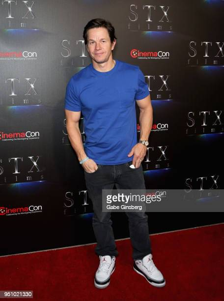 Actor Mark Wahlberg attends CinemaCon 2018 STXfilms Invites You to an Evening Featuring A Sneak Preview of Their Feature Films at The Colosseum at...