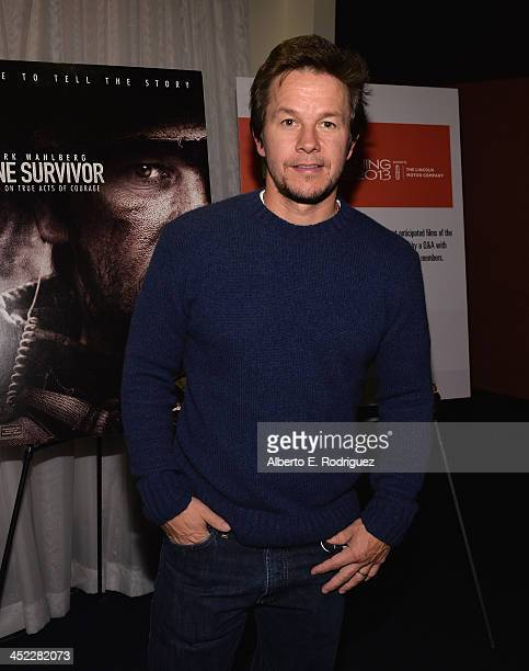 Actor Mark Wahlberg attends the 2013 Variety Screening series of 'Lone Survivor' at ArcLight Cinemas on November 26 2013 in Hollywood California