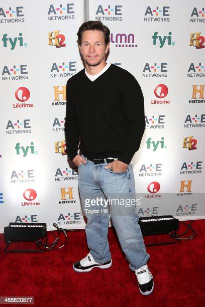 Actor Mark Wahlberg attends the 2014 A+E Networks Upfronts at Park Avenue Armory on May 8, 2014 in New York City.