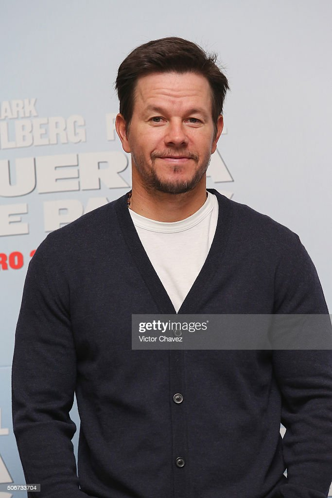 Actor Mark Wahlberg attends the 'Daddy's Home' press conference at St Regis Hotel on January 25, 2016 in Mexico City, Mexico.