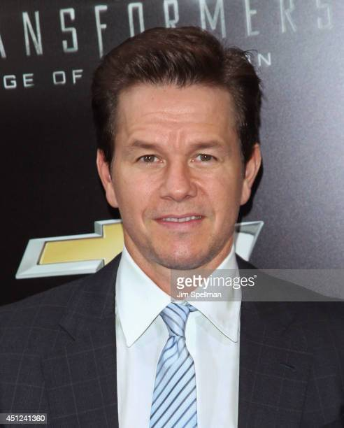 """Actor Mark Wahlberg attends the """"Transformers: Age Of Extinction"""" New York Premiere at the Ziegfeld Theater on June 25, 2014 in New York City."""