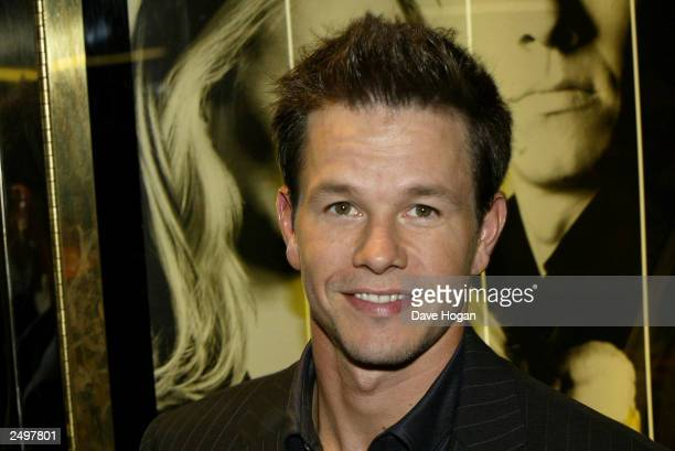 """Actor Mark Wahlberg attends UK charity premiere of """"The Italian Job"""" at the Empire Leicester Square September 15, 2003 in London, England."""
