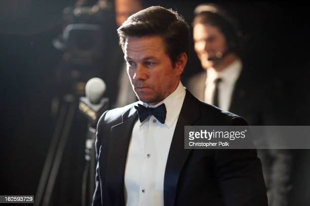 Actor Mark Wahlberg backstage during the Oscars held at the Dolby Theatre on February 24 2013 in Hollywood California