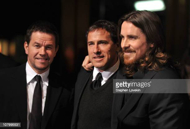 Actor Mark Wahlberg director David O Russell and actor Christian Bale attend the 2011 National Board of Review of Motion Pictures Gala at Cipriani...