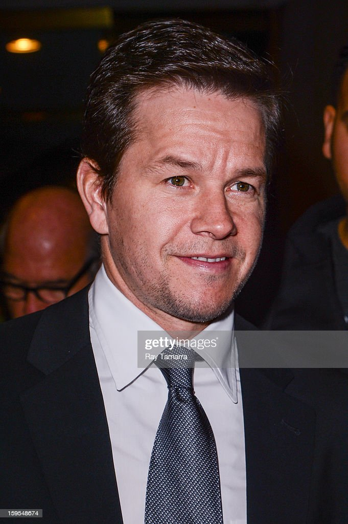 Actor Mark Wahlberg leaves the 'Today Show' taping at the NBC Rockefeller Center Studios on January 15, 2013 in New York City.