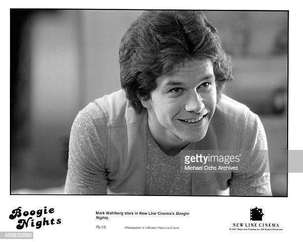 Actor Mark Wahlberg on set of the movie 'Boogie Nights ' circa 1997