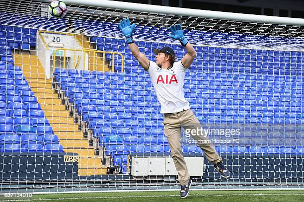 Actor Mark Wahlberg visits White Hart Lane on September 8 2016 in London England