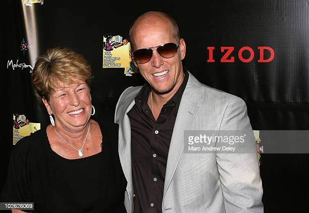 Actor Mark Wahlberg's mother Alma Wahlberg and brother Jim Wahlberg attend M Night Shyamalan's 'The Happening' Screening After Party hosted by IZOD...