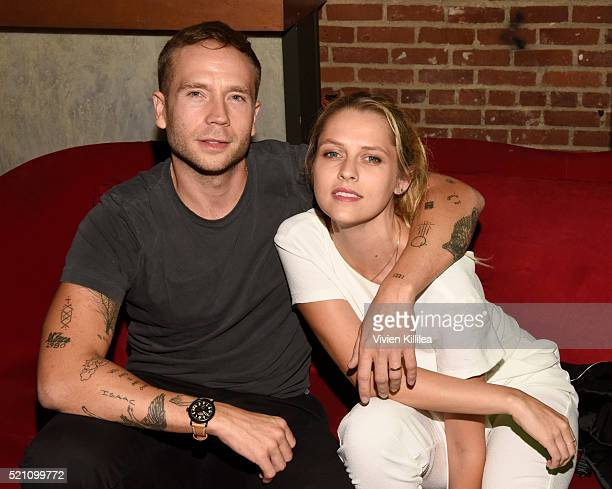 Actor Mark Webber and actress Teresa Palmer attend the GREEN ROOM Los Angeles Premiere on April 13 2016 in Hollywood California