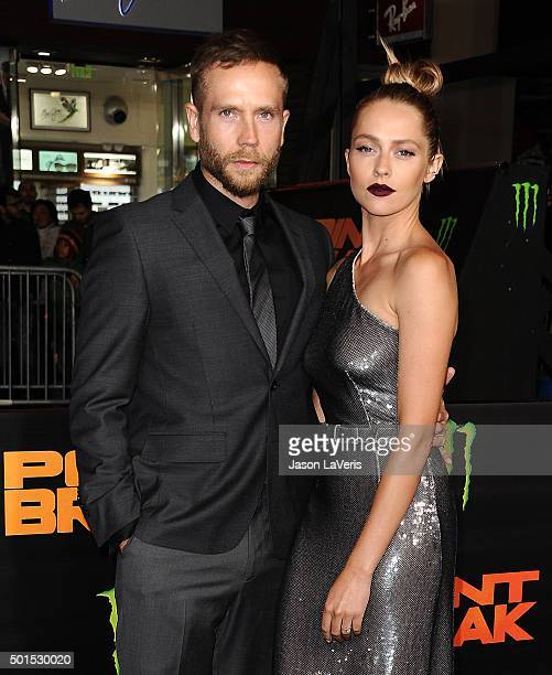 Actor Mark Webber and actress Teresa Palmer attend the premiere of Point Break at TCL Chinese Theatre on December 15 2015 in Hollywood California