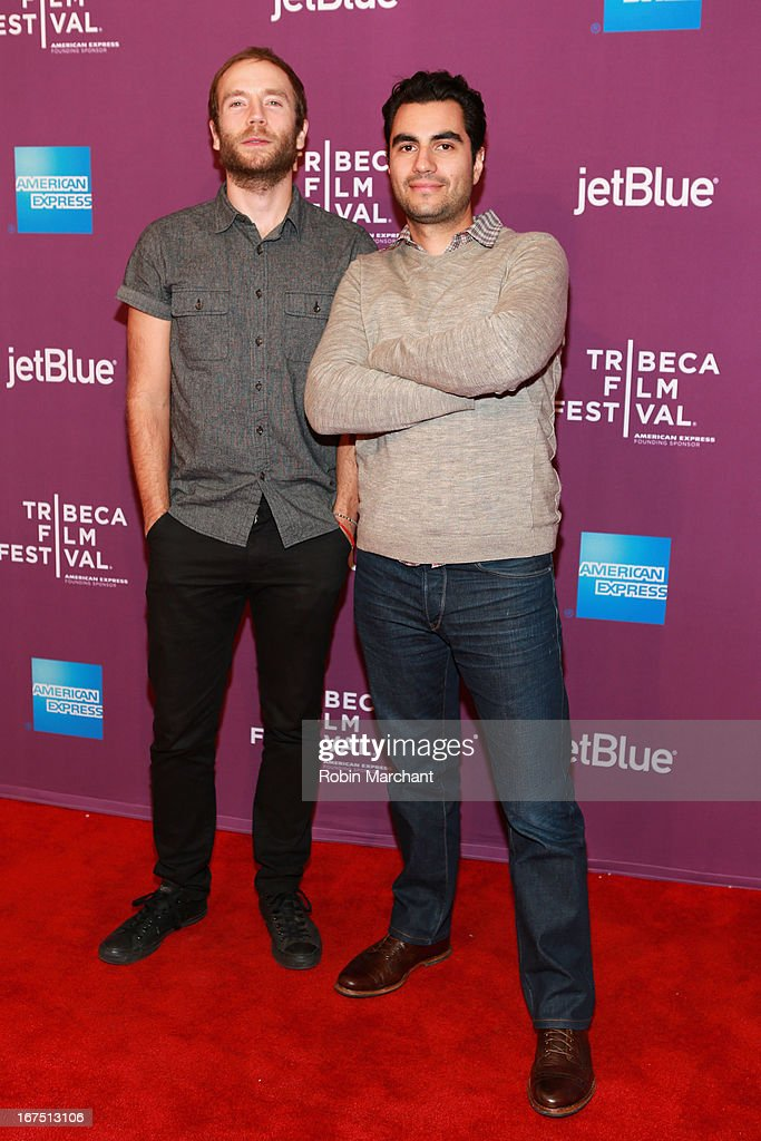 Actor Mark Webber and director Adam Bhala Lough attends 'The Motivation' World Premiere during the 2013 Tribeca Film Festival on April 25, 2013 in New York City.