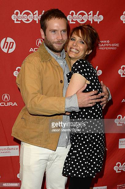 Actor Mark Webber and director Lynn Shelton attend the Laggies premiere at Eccles Center Theatre during the 2014 Sundance Film Festival on January 17...