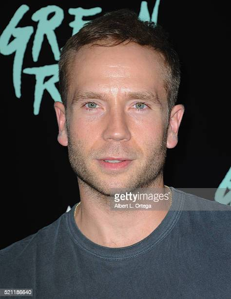 Actor Mark Webber arrives for the Premiere Of A24's Green Room held at ArcLight Hollywood on April 13 2016 in Hollywood California