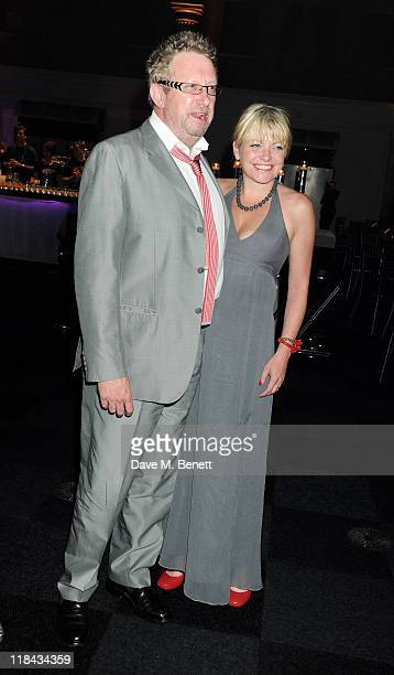 Actor Mark Williams and guest attend an after party celebrating the World Premiere of 'Harry Potter And The Deathly Hallows Part 2' at Old...