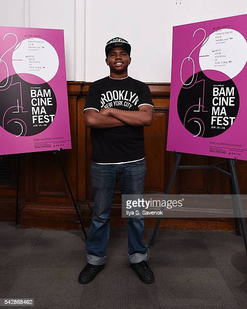 Actor Markees Christmas poses during 'Morris From America' screening at BAM Harvey Theater on June 24 2016 in New York City