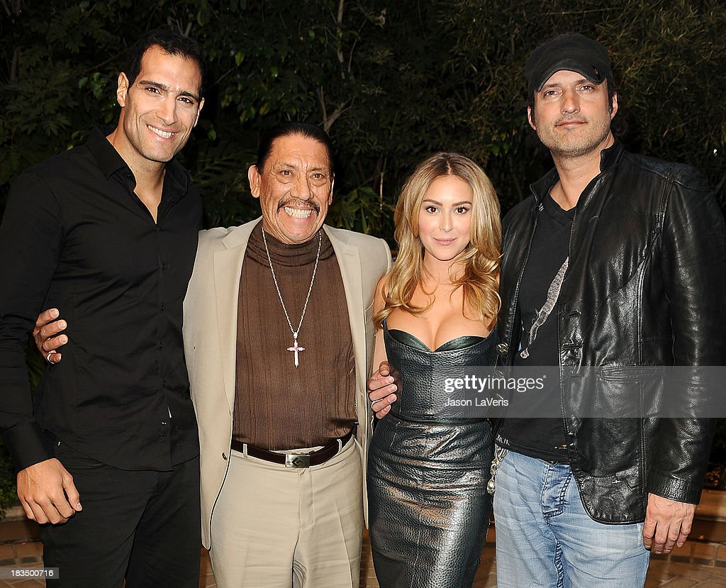 Actor Marko Zaror, actor Danny Trejo, actress Alexa Vega and director Robert Rodriguez attend the 'Machete Kills' press conference at Four Seasons Hotel Los Angeles at Beverly Hills on October 6, 2013 in Beverly Hills, California.