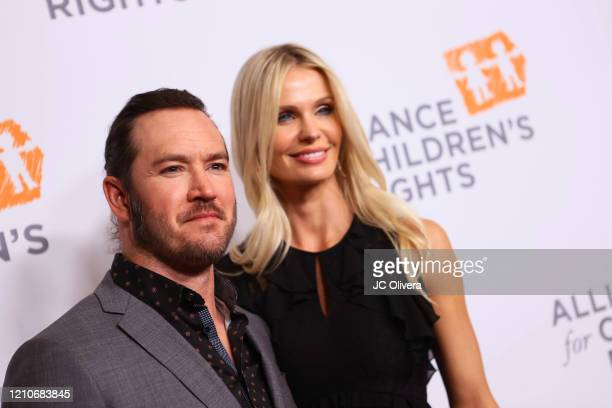 Actor MarkPaul Gosselaar and Catriona Gosselaar attend The Alliance For Children's Rights 28th Annual Dinner Honoring Karey Burke And Susan Saltz at...