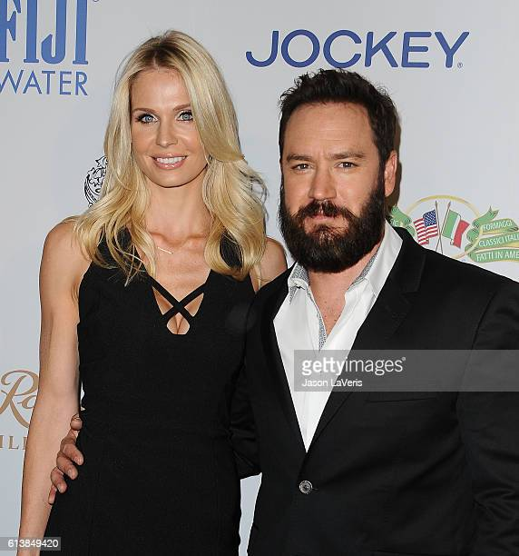 Actor MarkPaul Gosselaar and wife Catriona McGinn attend Men's Fitness Game Changers celebration at Sunset Tower Hotel on October 10 2016 in West...