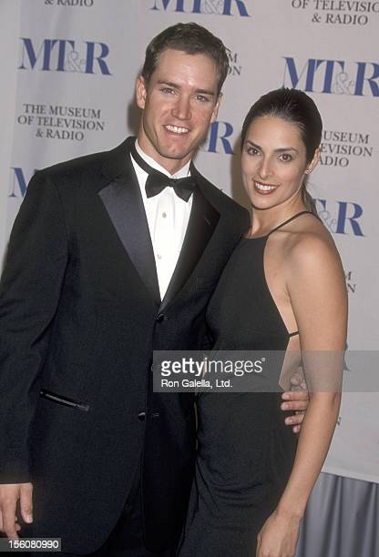 Actor MarkPaul Gosselaar and wife Lisa Ann Russell attend 'The Museum of Television and Radio Gala Honoring James Burrows and Martin Sheen' on...