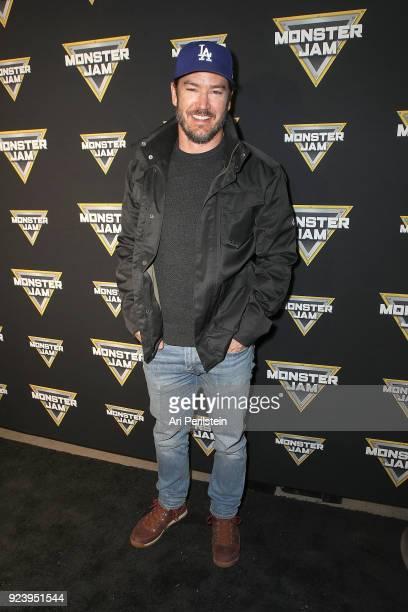 Actor MarkPaul Gosselaar arives at Monster Jam Celebrity Event at Angel Stadium on February 24 2018 in Anaheim California