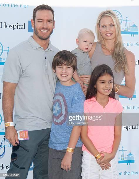 Actor MarkPaul Gosselaar his wife Catriona McGinn and children Michael Gosselaar Dekker Gosselaar and Ava Gosselaar attend Mattel's 5th Annual Party...