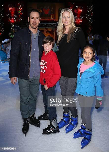Actor MarkPaul Gosselaar wife Catriona McGinn and his children Michael Charles Gosselaar and Ava Lorenn Gosselaar attend Disney On Ice presents Let's...