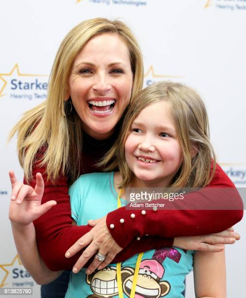 Actor Marlee Matlin and Sophia Nelson attend the 2018 Big Game Weekend Hearing Mission With Starkey Hearing Technologies on February 3 2018 in...