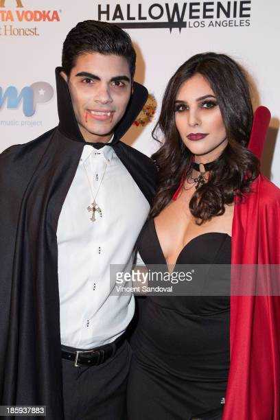 Actor Marlon Aquino and actress Camila Banus attend Fred and Jason's 8th annual Halloweenie holiday concert by the Gay Men's Chorus of Los Angeles at...