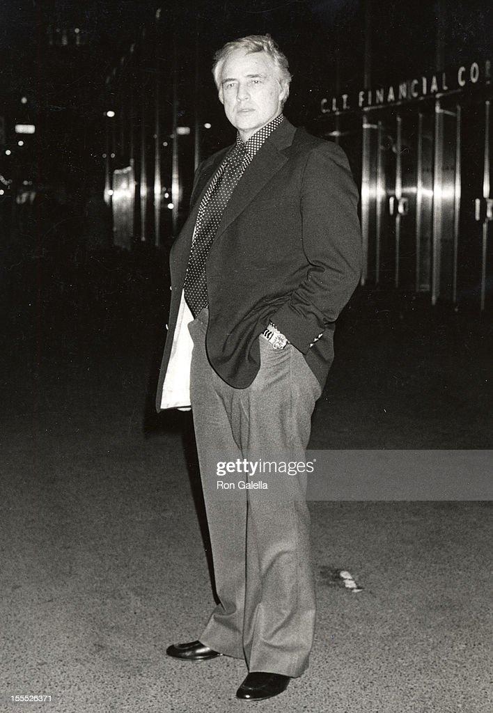 Marlon Brando File Photos : News Photo
