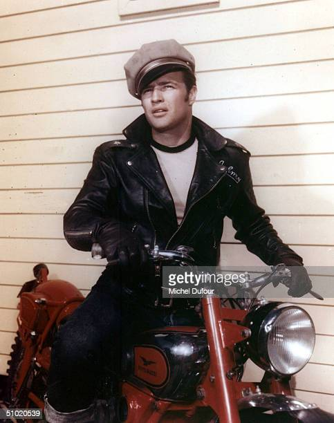 Actor Marlon Brando is seen in this undated photo for the movie The Wild One. Brando's attorney announced July 2, 2004 that the 80 year-old actor...