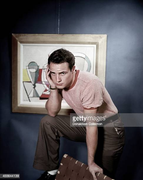 Actor Marlon Brando poses for a portrait circa 1950