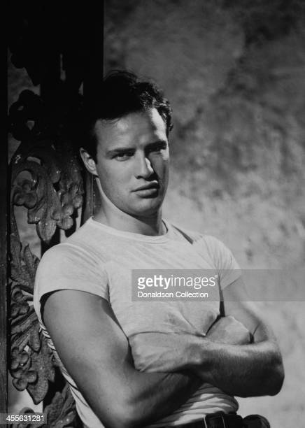 Actor Marlon Brando poses for a portrait on the set of the movie 'A Streetcar Named Desire' which came out in 1951