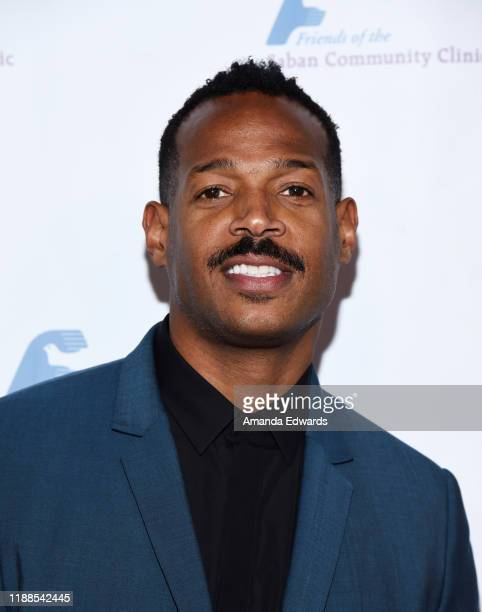 Actor Marlon Wayans arrives at the Saban Community Clinic's 43rd Annual Dinner Gala at The Beverly Hilton Hotel on November 18 2019 in Beverly Hills...