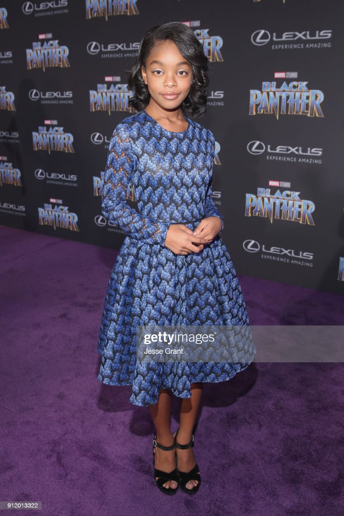 Actor Marsai Martin at the Los Angeles World Premiere of Marvel Studios' BLACK PANTHER at Dolby Theatre on January 29, 2018 in Hollywood, California.