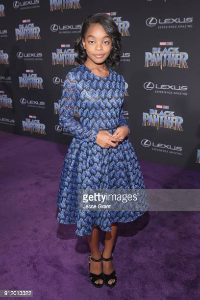 Actor Marsai Martin at the Los Angeles World Premiere of Marvel Studios' BLACK PANTHER at Dolby Theatre on January 29 2018 in Hollywood California