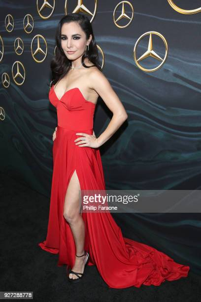 Actor Martha Higareda attends MercedesBenz USA Official Awards Viewing Party at Four Seasons Beverly Hills CA on March 4 2018 in Los Angeles...