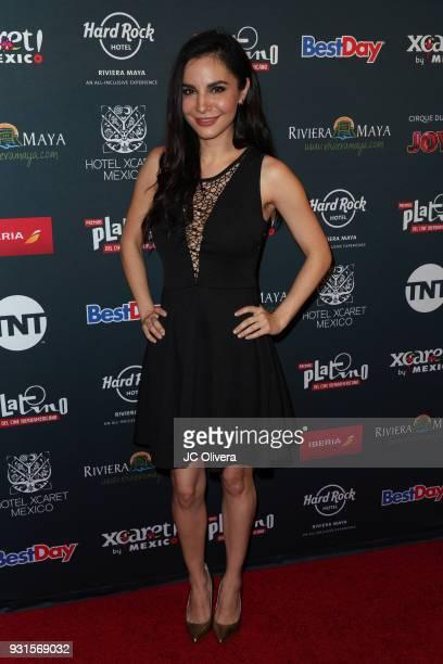 Actor Martha Higareda attends the 5th Annual Premios PLATINO Of Iberoamerican Cinema Nominations Announcement at Hollywood Roosevelt Hotel on March...