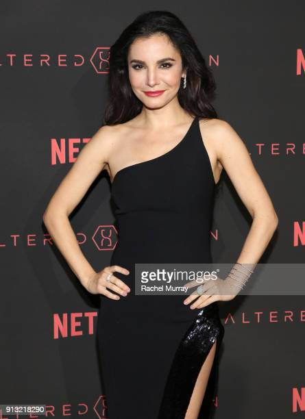Actor Martha Higareda attends the World Premiere of the Netflix Original Series Altered Carbon on February 1 2018 in Los Angeles California